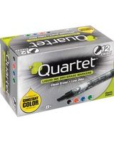Quartet® EnduraGlide® Dry-Erase Markers - Chisel Point Style - Assorted - 12 / Pack