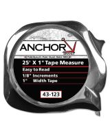 "Anchor Brand 43-113 1/2""X12' E-Z Read Powertape Measure"