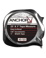 "Anchor Brand 43-123 1""X25' E-Z Read Tape Measure"