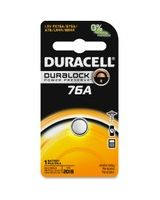 Duracell 76A Special Application Battery - LR44/A76 - Alkaline - 1.5 V DC - 1 Pack