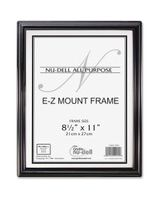 "Glolite Nu-dell EZ Mount Document Frame - 8.50"" x 11"" Frame Size - Rectangle - Wall Mountable - Horizontal, Vertical - Break Resistant - Plastic, Plastic - Black, Silver"