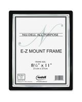"Glolite Nu-dell EZ Mount II Document Frame - 8.50"" x 11"" Frame Size - Rectangle - Wall Mountable - Horizontal, Vertical - Break Resistant - Plastic - Black, Silver"
