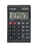 "Canon LS-88HI III Green Display Basic Calculator - Large Display, Angled Display, Sign Change, Lightweight, Dual Power, Auto Power Off, Portable Printing/Display - Battery/Solar Powered - 1"" x 5.4"" x 5.6"" - Black - 1 Each"