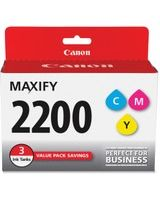 Canon PGI-2200 CMY Original Ink Cartridge - Cyan, Magenta, Yellow - Inkjet - Standard Yield - 700 Page (Per Cartridge) - 3 / Pack