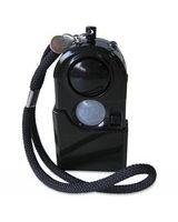 FireKing Personal Alarm - 100 dB - Audible/Visual, Flashing LED - Black, Bright White