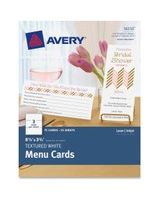 "Avery Note Card - 8.50"" x 3.66"" - Textured - 75 / Pack - White"