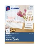 "Avery Note Card - 8.50"" x 3.66"" - Textured - 30 / Pack - White"