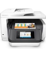 "HP Officejet Pro 8730 Inkjet Multifunction Printer - Color - Plain Paper Print - Desktop - Copier/Fax/Printer/Scanner - 36 ppm Mono/36 ppm Color Print - 2400 x 1200 dpi Print - 1 x Input Tray 250 Sheet, 1 x Output Tray 150 Sheet - 4.3"" Touchscreen - 1200"