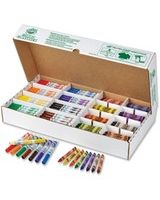 Crayola My First 128-count Combo Classpack - Conical Marker Point Style - Assorted Ink - Assorted Wax - 128 / Pack
