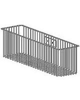 "Ergotron Wire Storage Basket - External Dimensions: 13.1"" Width x 4.1"" Depth x 6.1"" Height - Gray"