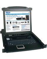 "Tripp Lite 8-Port Rack Console KVM Switch w/ 17"" LCD PS/2 1U - 8 Computer(s) - 17"" LCD - 8 x SPDB-15 Keyboard/Mouse/Video"