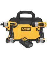 Dewalt DCK210S2 12V Max Cordless Screwdriver / Impact Drvr Combo