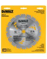 """Dewalt DW3161 6-1/2""""Dia. 18T 5/8""""Arbor (1 EA)"""
