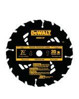 """Dewalt DW3174 7-1/4"""" 20T Atb Circular (5 EA)"""