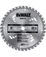 "Dewalt DW3184 8-1/4"" 40T Carbide Saw B (1 EA)"