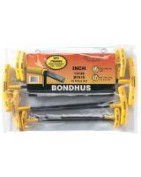 Bondhus 13138 Btx-10 10Pc. T-Wrench Hex Set Balldriver