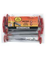 Bondhus 13187 Btx 80Mm 8Pc. T-Handle Hex Set Balldriver