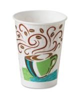 Dixie PerfecTouch Hot Cup - 16 fl oz - 50 / Pack - Polystyrene - Hot Drink