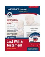 Adams Last Will & Testament Kit - Legal Kit - 1 - PC, Intel-based Mac - Forms and Instructions