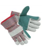 "Memphis Glove 1211J Jointed Double Leatherpalm 2-1/2"" Rubb Safety (1 PR)"