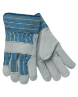 "Memphis Glove 1400S Gry Leather Palm  2.5"" Cwht Canvas Back Sm (12 PR)"