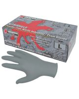 Memphis Glove 6010GYL Gray 4 Mil Medical Nbr Lbx/100 (1 BX)
