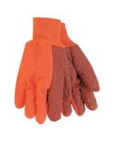 Memphis Glove 9018Do Orange Double Palm Dot K/W (1 PR)