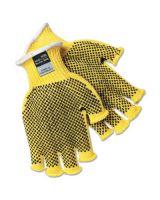 Memphis Glove 9369L Large Fingerless Pvc Dots Kevlar Plus Glove (12 PR)