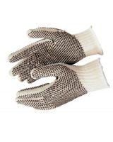 Memphis Glove 9660LM Cotton/Polyester Naturalpvc Dots 2 Sides Large (12 PR)