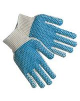 Memphis Glove 9660SMB Reg Cot/Poly  Blue Pvc Dots