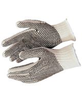 Memphis Glove 9660XLM Xl Cotton/Polyester Natural Pvc Dots Both Sides (1 PR)