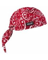 Ergodyne 150-12479 Chill-Its 6615 High Performance Dew Rag  Redwest (1 EA)