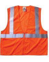 Ergodyne 21045 Economy Vest Class Ii Mesh Zipper Orange L/Xl