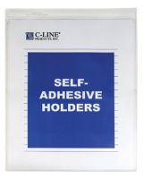C-Line Products Inc. 70911 Self-Adh Vinyl Shop Ticket Holders 8X11 50/Bx