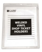 C-Line Products Inc. 80911 Shop Ticket Holders Welded Vinyl 8 X 11- 50/Bx