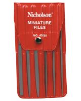 "Nicholson 42030L 5-1/2"" Rhn 6 Assorted Minifiles W/Vinyl Pou"