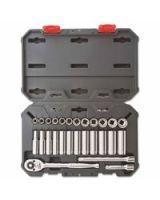 "Crescent CSWS9 27 Pc  3/8"" Dr. Socket Wrench Set  Std&Deep  Mm"