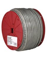 """Campbell 193-7000397 3/32""""-7X7-Coated Cable Reel 250' (250 FT)"""