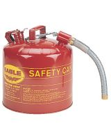 "Eagle Mfg U2-51-SY Yellow Type Ii 5 Gallonsafety Can W/12"" Flex Sp"