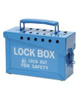 Brady 45190 Portable Metal Lock Box- Blue
