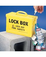 Brady 262-45190 Portable Metal Lock Box- Blue (1 EA)