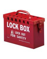 Brady 262-65699 Portable Metal Lock Box- Red (1 EA)