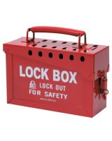 Brady 65699 Portable Metal Lock Box- Red