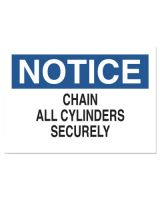 "Brady 70239 10""X14"" Fiberglass Notice Chain Cylinder Sign"