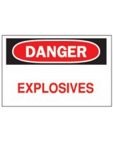 "Brady 75639 10""X14"" Fiberglass Danger Explosives Sign"