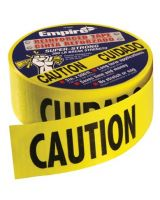 "Empire Level 76-0600 Caution Tape Heavy Dutyreinforced 3""X500' Roll (1 ROL)"