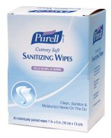 Gojo 9025-12 Purell Cottony Soft Sanitizing Wipes Disp 40 Ct (12 EA)