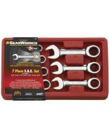 Gearwrench 9507D 7Pc Sae Stubby Combination Ratcheting Wrench