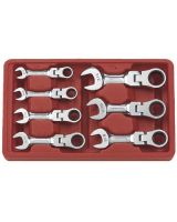 Gearwrench 9570 7Pc Sae Stubby Flex Ratcheting Wrench Set
