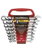 Gearwrench 9701 8Pc Flexible Comb Ratcheting Wrench Set - Sae